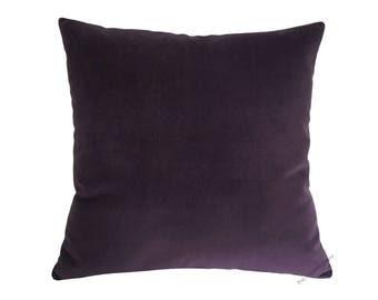 "Purple Velvet Suede Decorative Throw Pillow Cover / Pillow Case / Cushion Cover / 18x18"""