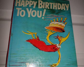 Dr Seuss Book Happy Birthday to You 1959