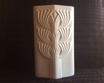 Vintage German OP Art Pottery one of the rare Tree of Life POP Art Vase by Rosemonde Nairac for Rosenthal Germany  early 1970s