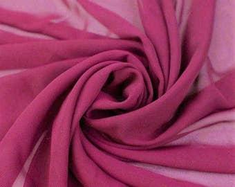 Hi Multi Chiffon Fabric - 20 Yards - Magenta (273)
