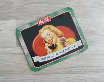 15% SALE (Code In Shop) - Vintage Coca Cola 40's Pin Up Girl Advertisement Metal Wall Hanging