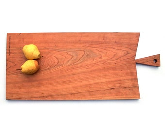 Cherry \ Wood \ Serving Platter \ Cutting Board \  Salvaged
