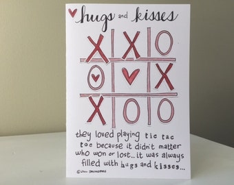 5x7 Card - Tic Tac Toe