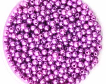 4mm. 2000CT, light Purple Pearl Seed Bead, Spacer Bead, k70
