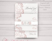 Wedding, Engagement, Anniversary Invitations: Ivory, Lace, Classy, Traditional, Grey, Vintage, Cream, Blush Samples/Digital/Printed Avail