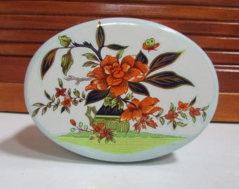 The Tin Box Company TBC Floral Decorative Candy Tin