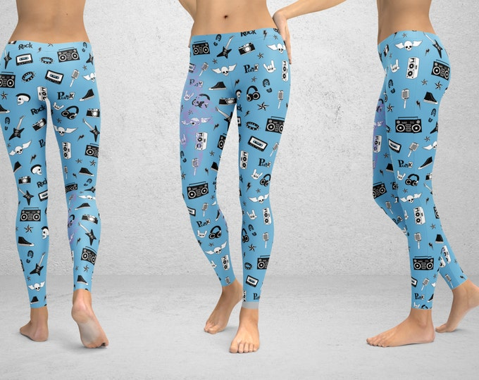 Leggings with Punk Rock Pajama Design