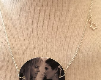 Silver Plated Handmade Labyrinth Movie Necklace
