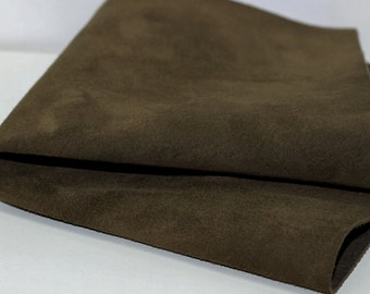 Suede Genuine Leather, Army Green Leather, Olive Green Suede Pigskin