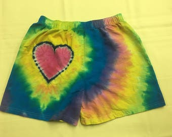 Tie Dye Heart On (TM) Boxers IN STOCK - S