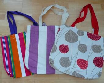 Book bag, Market bag, Tote bag, Cotton Tote, cotton shopper, shopping bag,