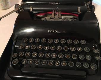 CORONA STANDARD TYPEWRITER