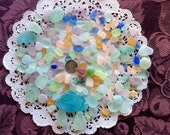 RESERVED Rough Pastel & UV Beach Sea Glass  RP-D29-A