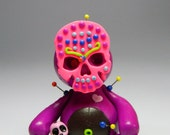 RESERVED for Marie. Sir Arnton of Spookshire Street.  Hand Sculpted miniature baby Skelly. Polymer Clay Voodoo Doll Figurine