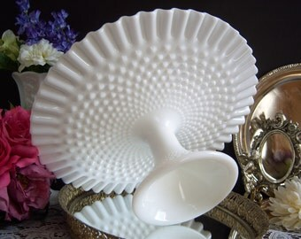 Fenton Hobnail Milk Glass Cake Stand - Hobnail Milk Glass Cake Stand - Wedding Cake Stand - Milk Glass Cake Stand - Vintage Wedding