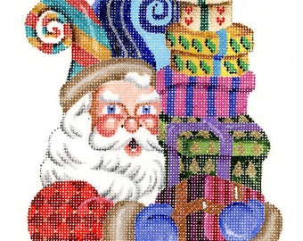 Needlepoint Christmas Ornament - Santa the Jester