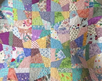 """HOLIDAY SALE A Scrap Happy 35.75"""" X 35.75"""" Quilt For Baby"""