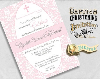 Diy baptism invite | Etsy