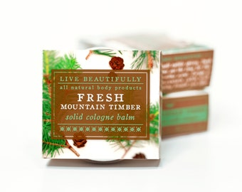 Fresh Mountain Timber Cologne - All Natural - Masculine, Fresh Pine, Earth, Smoky Spice