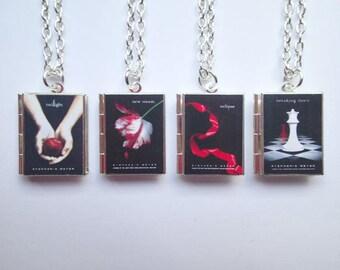 Twilight Inspired Locket Book Necklace * Twilight * New Moon * Eclipse * Breaking Dawn *