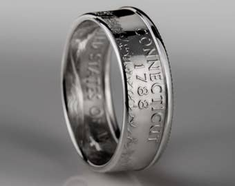 Connecticut Quarter - Coin Ring - SILVER (.900)