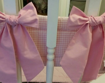 Bumper Bow Large Pink Baby Bumper Bow Detachable Decorative Large Bow