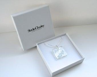Cinderella's Shoe Resin Papercut Pendant • Fairytale Necklace • Paper Cut Jewellery