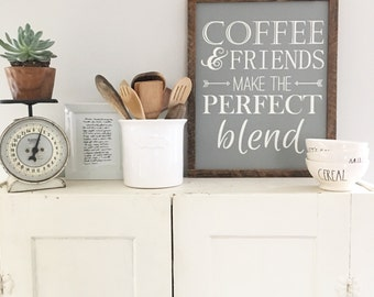 Coffee and friends make the perfect blend. Ready To Ship