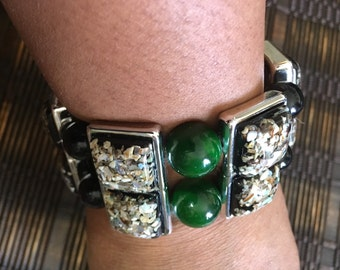 Chic Bracelet multicolor and black/green beads.