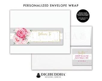 Floral Return Address Label Custom Envelope Wrap Address Sticker Wrap Around Label Return Address Labels Ready Made Printed Labels - Jenn