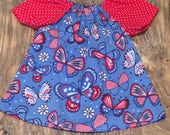 Sale!! Ready to Ship!! Fourth of July Baby Dress, Toddler Dress, Sundress, little Girl Dress