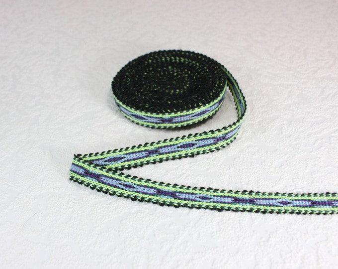 Woven Trim (6 yards), Woven Border, Cotton Ribbon, Grosgrain Ribbon, Dress Border, Border Trim, R195