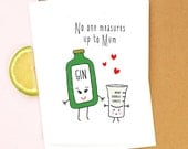 Gin Mother's Day Card, Gin Card, Gin, Mothers Day Card, Mothers Day, Mum, Illustration, Gin & Tonic, Funny Mother's Day Card, Card for Mum