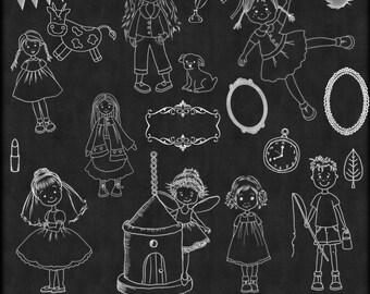 Chalk Art Mix 2,  Chalk Art, Chalkboard Clipart,  Clipart, Children Chalk Art, chalkboard Clip art, Instant Download