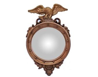Vintage Syroco Federalist Convex Mirror, Bullseye Mirror