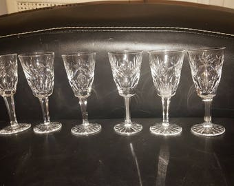 6 small crystal glasses