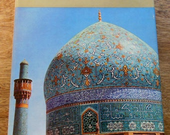 1961 PERSIA, Hardcover Book w/ 105 Pictures in Photogravure, 5 Color Plates