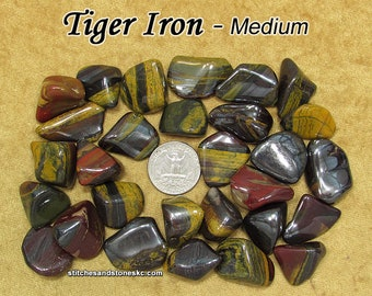 Tiger Iron (Mugglestone) tumble stone for crystal healing — multiple sizes available