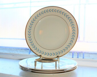 4 Syracuse China Old Ivory Sherwood Dessert Plates Vintage 1950s