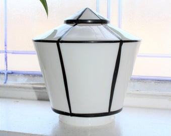 Art Deco Light Globe Shade Vintage Milk Glass 1920s