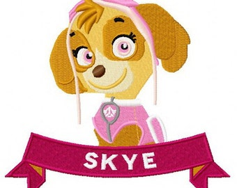 SKYE Embroidered Paw Patrol Patch