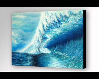 Waves | Ocean Print | Ocean Wall Art | Ocean Painting | Wave Painting | Sea Painting | Beach Decor | Ocean Art | Wave Print | Seascape