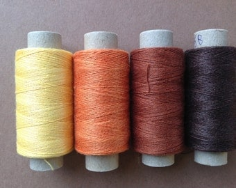 Four spools of Moravia linen lacemaking thread - 40/2 - limited stock levels