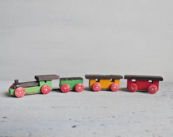 Vintage Miniature Dregeno Toy Train, Railway Diorama Made in East Germany GDR, 1960's - 1980's