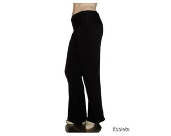 Plus Size Yoga Pants-Bootcut-Handmade-Hand Dyed Organic Cotton/Bamboo Jersey -Womens Made to Order-Choice of Color-XL,2X,3X,4X,5X,6X,7X,8X