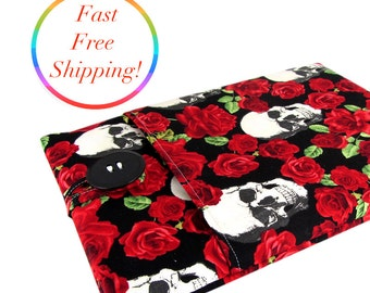 Skull Roses iPad Mini Case, iPad Mini 2 Case, iPad Mini 4 Case, iPad Mini Sleeve, iPad Mini Cover, iPad Mini 2 Case, iPad Mini 2 Sleeve