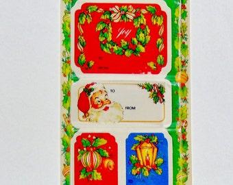 1960s, Vintage Tags, Christmas Tags, Christmas, Christmas Gifts, Vintage Christmas, Christmas Ideas, Old Christmas, Xmas