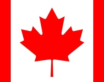 Canada flag cross stitch pattern chart, modern cross stitch, colorful pattern, jpeg pattern, needlecraft pattern, red and white, canadian