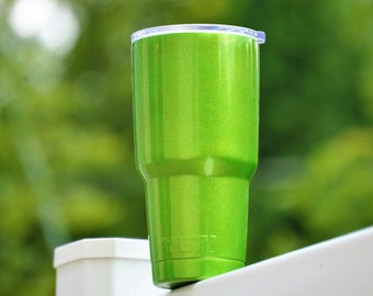 Illusion lime time YETI Powder Coated Stainless Steel Tumbler Single Color Free Monogram or Name