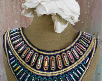 Multi Colored Stitched Beaded Appliques